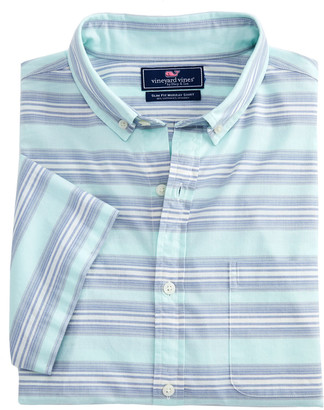 Vineyard Vines Slim Fit Marina Stripe Short-Sleeve Murray Shirt