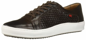 Marc Joseph New York Men's Leather Made in Brazil Luxury Lace-up Detail Fashion Sneaker