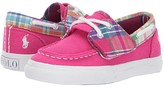 Polo Ralph Lauren Bridgeport EZ (Toddler) (Sport Pink Heavy Twill/Multi Plaid/White Pony) Girl's Shoes
