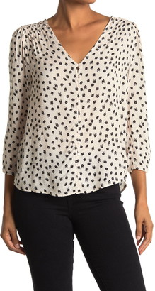 Lush Printed Button Blouse