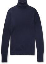 Officine Generale Nina Slim-fit Merino Wool Rollneck Sweater - Navy