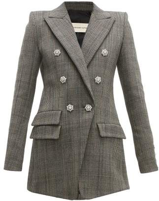 Alexandre Vauthier Double-breasted Crystal-button Blazer - Womens - Grey Multi