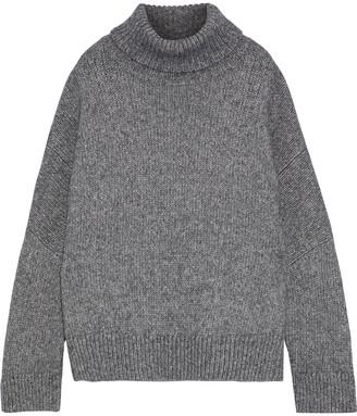 Co Oversized Melange Alpaca And Pima Cotton-blend Turtleneck Sweater