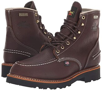 Thorogood Flyway USA 6 Moc Toe Waterproof (Brown) Men's Work Boots