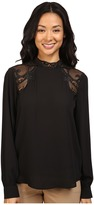 Ivanka Trump Georgette Blouse with Lace