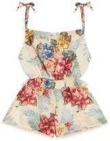 Zimmermann Kali Floral Shoulder Tie Playsuit
