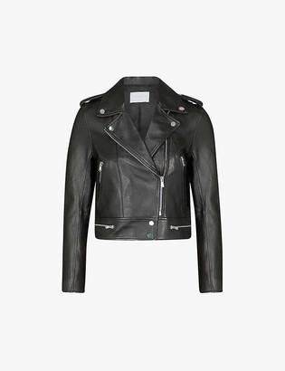 Sandro Leather biker jacket
