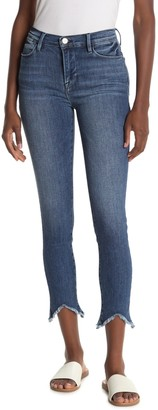 Frame High Waisted Skinny Distressed Jeans