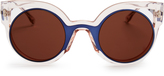 Fendi Bi-colour round-frame sunglasses