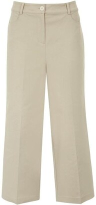 Mint Velvet Neutral Crop Wide Leg Trouser