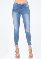 Bebe Rhinestone Logo Jeans