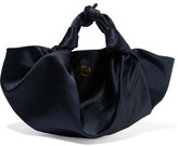 The Row Ascot Satin Tote - Midnight blue