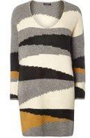 Dorothy Perkins Womens **Vila Aysemetric stripe jumper- Fl Multi