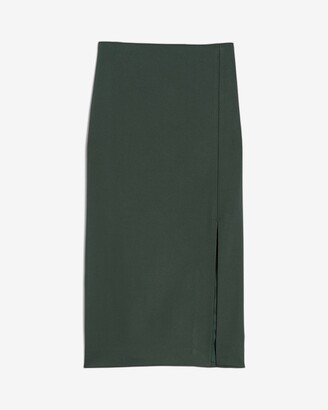 Express High Waisted Side Slit Pencil Skirt