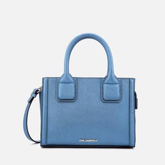Karl Lagerfeld Paris Women's K/Klassik Mini Tote Bag - Metallic Light Blue