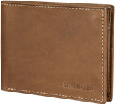 Steve Madden Brown Antique Passcase Leather Wallet