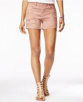 Vanilla Star Juniors' Ripped Cuffed Denim Shorts