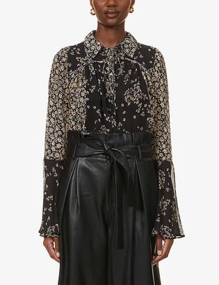 Free People Serena chiffon blouse