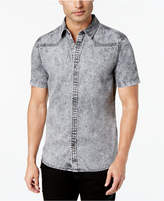 GUESS Men's Slim-Fit Western Denim Shirt