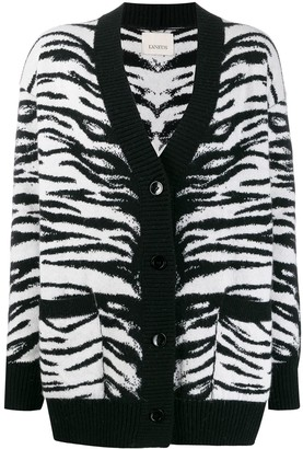 Laneus Tiger knit cardigan