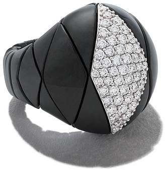 Roberto Demeglio 18kt white gold Diva ceramic and diamond ring