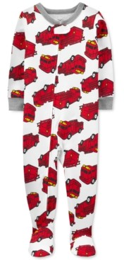 Carter's Toddler Boys 1-Pc. Firetruck-Print Footed Pajama