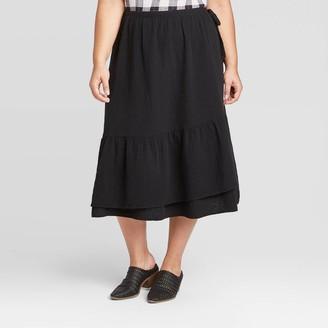 Universal Thread Women's Plus Size Midi Wrap Skirt - Universal ThreadTM