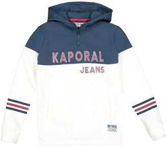 Kaporal Cotton Mix Hoodie with Logo Print, 10 - 16 years