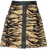 ADAM by Adam Lippes tiger jacquard A-line mini skirt