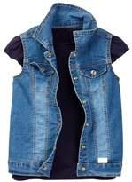 7 For All Mankind Tee & Vest Set (Toddler Girls)
