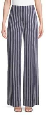 Diane von Furstenberg Wide Leg Stripe Pants