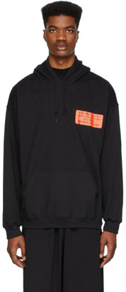N.Hoolywood Black Orange Patch Hoodie