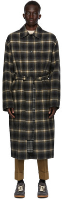Cmmn Swdn Reversible Grey Wool Check Bastien Coat