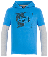 Animal Boys' Long Sleeve Hooded Graphic T-Shirt, Blue