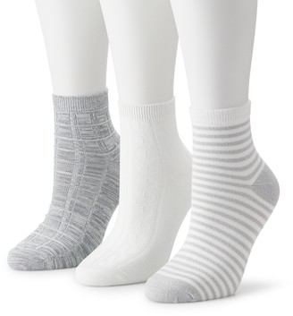 Cuddl Duds Juniors' Everyday 3-Pack Anklet Socks