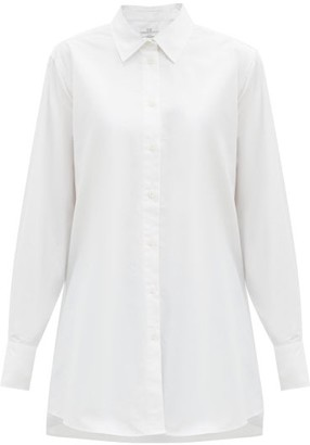 Co A-line Cotton-sateen Shirt - White