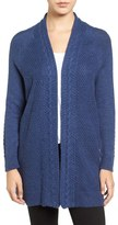 Chaus Cable Stitch Open Front Cardigan
