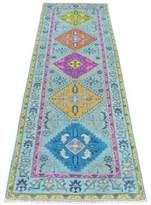 """Blue Area One-of-a-Kind Flourtown Southwestern Hand-Knotted Runner 2'8"""" x 8' Rug Isabelline"""