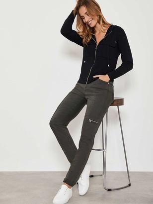 Mint Velvet Houston Khaki Slim Cargo Jeans - Green