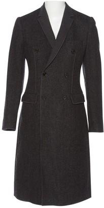Dolce & Gabbana Charcoal Wool Coats
