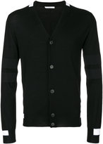Givenchy contrast panel cardigan - men - Polyester/Wool - S