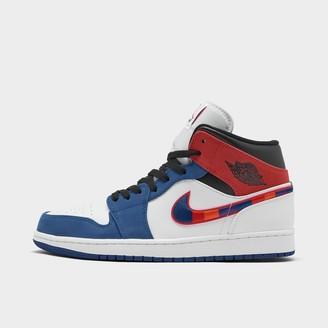 Nike Men's Air Jordan Retro 1 Mid Premium Basketball Shoes