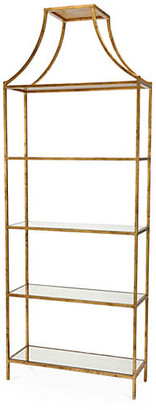 "Chelsea House Benedict 96"" Gilt Etagere - Aged Gold"