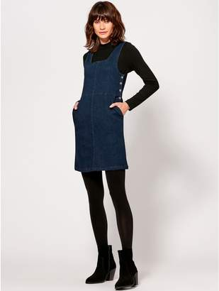 M&Co Denim pinafore dress