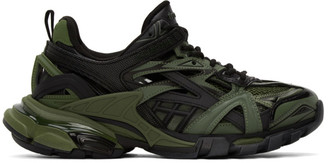 Balenciaga Khaki Track.2 Open Sneakers
