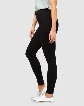 Jeanswest Women's Black High-Waisted - Freeform 360 Contour High Waisted Skinny 7-8 Jeans Black - Size One Size, 10 Regular at The Iconic