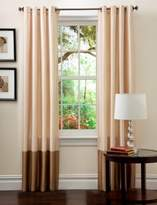 Lush Decor Prima Window Curtain Panel Pair, 84 inch x 54 inch, Ivory/Taupe, Set of 2
