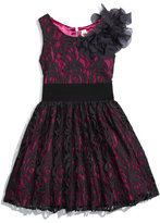 Nordstrom Zoe Lace Overlay Dress (Big Girls)