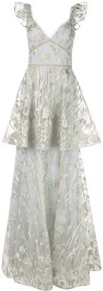 Marchesa Floral Sleeveless Dress