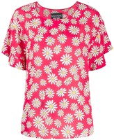 Moschino floral short-sleeve blouse